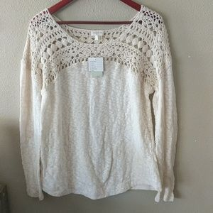 Anthropology meadow rue crochet top